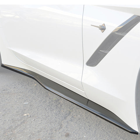 Corvette C7 Stingray / Z51 Carbon Fiber Side Skirts Rocker Panels - ExtremeOnlineStore