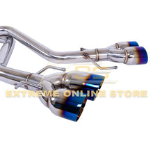 2015-Up Lexus RC200t 300 350 Muffler Delete Axle Back Quad Burnt Tips Exhaust