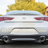 2017-Up Infiniti Q60 Muffler Delete Axle Back Double Wall Dual Tips Exhaust