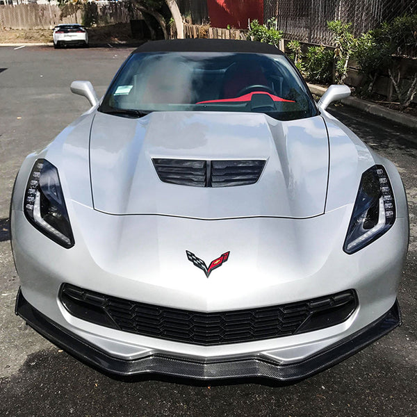 Corvette C7 Carbon Fiber Front Splitter Ground Effect Lip W/ Side Splitter
