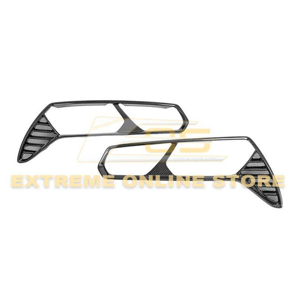 Corvette C7 Carbon Fiber Rear Tail Light Bezels