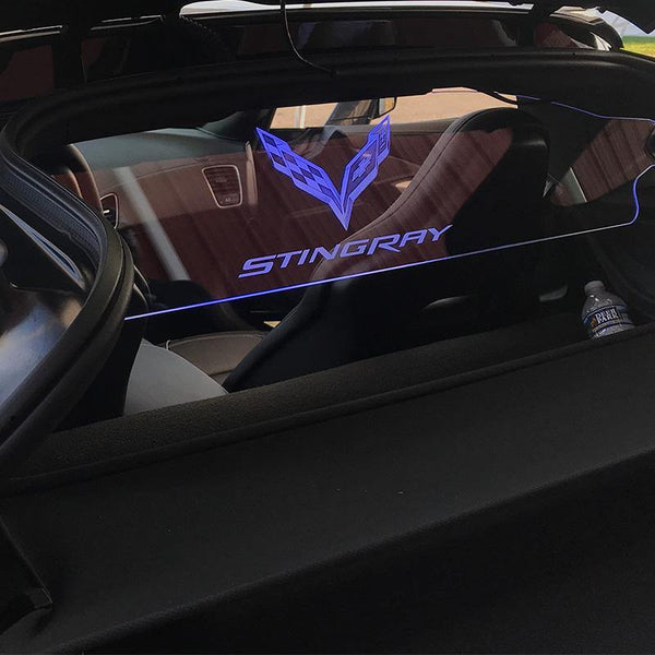 WindRestrictor® C7 Coupe Rear Add On Glow Plate