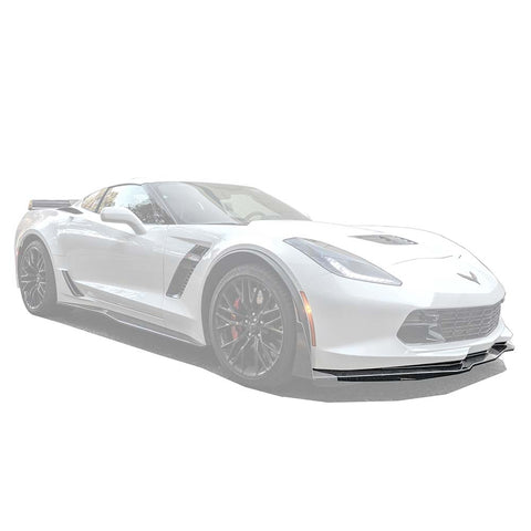 Corvette C7 Carbon Flash Front Splitter Lip Ground Effect - ExtremeOnlineStore