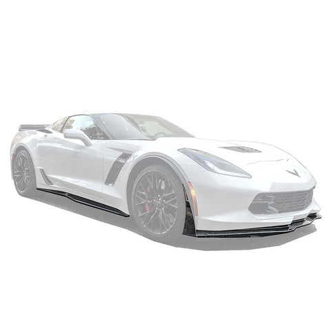 Corvette C7 Grand Sport / Z06 Front Splitter Lip & Side Skirts Rocker Panels - ExtremeOnlineStore