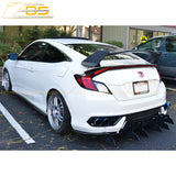 2016-19 Honda Civic Coupe Type R Conversion Rear Trunk Spoiler Kit