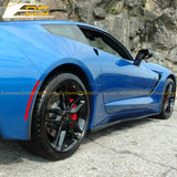 Corvette C7 Stingray / Z51 Primer Black Side Skirts Rocker Panels