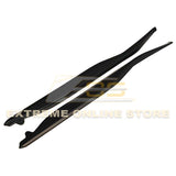 Corvette C7 Primer Black Side Skirts Rocker Panels