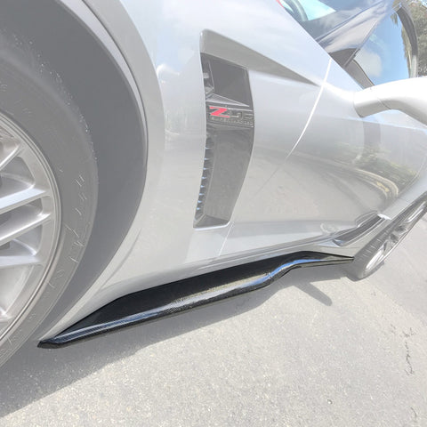 Corvette C7 Grand Sport / Z06 Carbon Fiber Side Skirts Rocker Panels - ExtremeOnlineStore