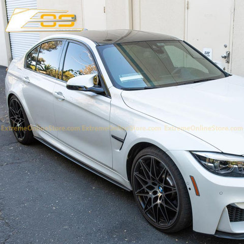 2014-18 BMW F80 M3 Extended Carbon Fiber Side Skirts Rocker Panels