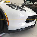 Corvette C7 Carbon Flash Front Splitter W/ Stage 3 Wickerbill Side Winglets