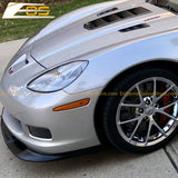 Corvette C6 Grand Sport / Z06 Primer Black Front Splitter Lip