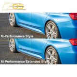 2012-18 BMW 3-Series F30 31 M-Sport Extended Carbon Fiber Side Skirts Rocker Panels