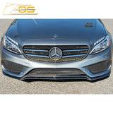 2015-18 Mercedes-Benz C-Class W205 AMG Carbon Fiber Front Splitter Lip