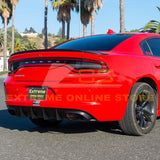 2015-Up Dodge Charger Base Model SRT Style Rear Bumper Dual Exhaust Diffuser