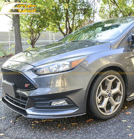 15-Up Ford Focus ST Carbon Fiber Front Splitter Lip - ExtremeOnlineStore
