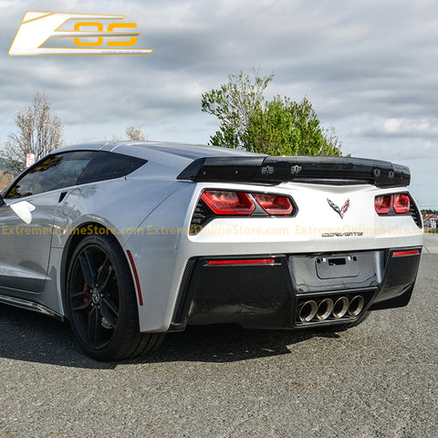Corvette C7 Carbon Flash Stage 3 Rear Spoiler (Dark Tinted Extension)
