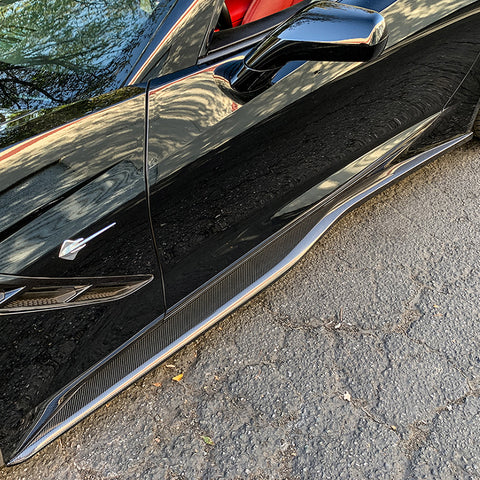Corvette C7 Z06 Conversion Side Skirts Rocker Panels - ExtremeOnlineStore