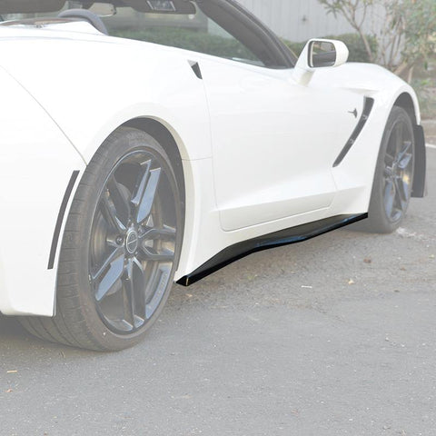 Corvette C7 Stingray / Z51 Carbon Flash Side Skirts Rocker Panels - ExtremeOnlineStore