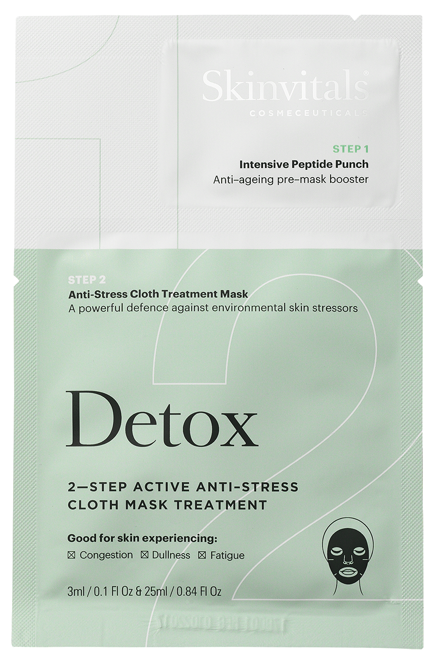 2–Step Anti-Stress Detox Cloth Mask Treatment