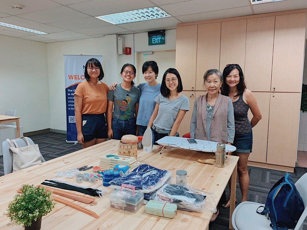 Elisa (third from right) with participants from her Sew Simple workshop.