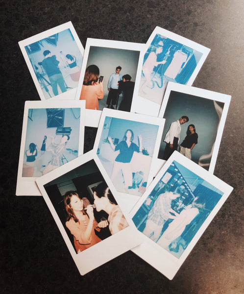 Polaroids of photoshoot