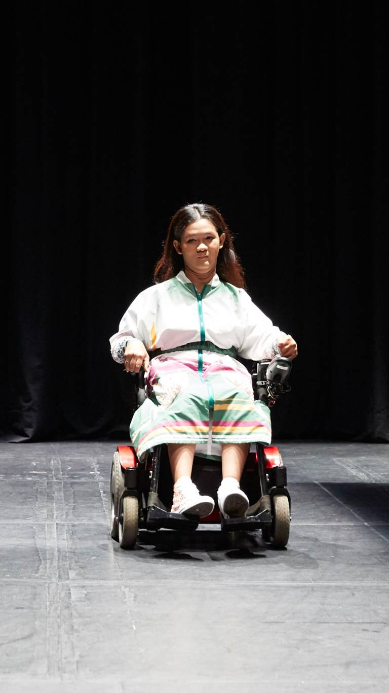 Wheelchair Model on runway