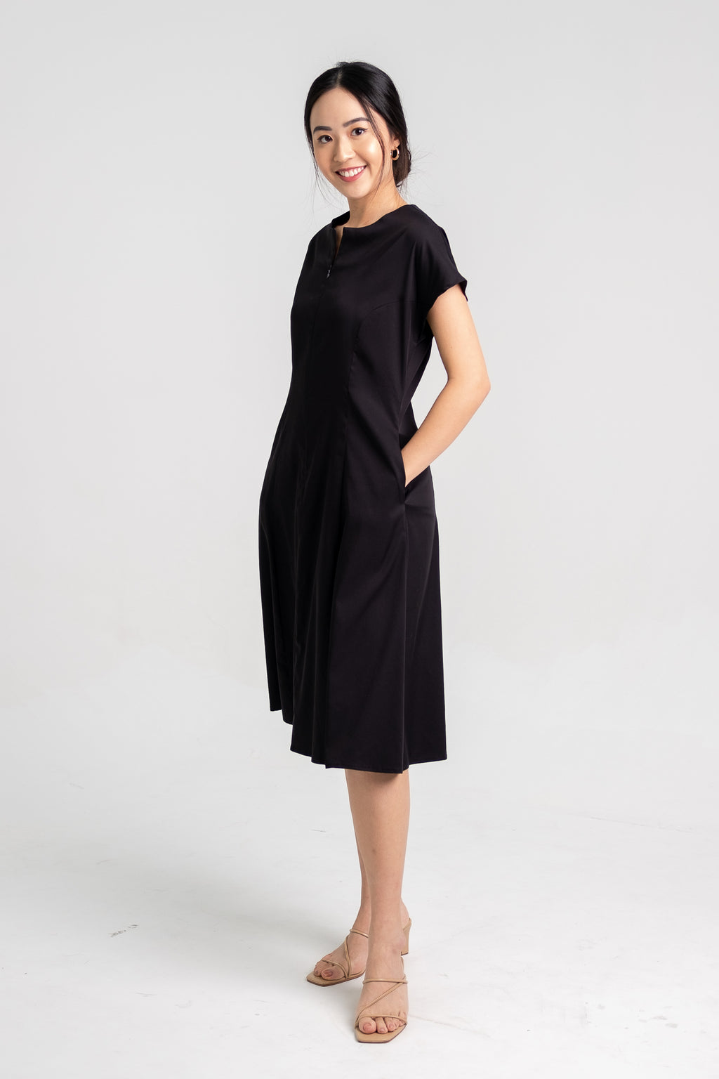 Midi Cap Sleeve Dress