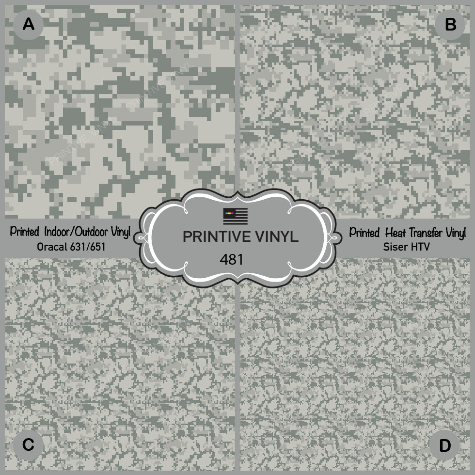 Digital Military Camouflage Pattern Printed Vinyl/ Indoor/ Outdoor/ Heat  Transfer Vinyl-481