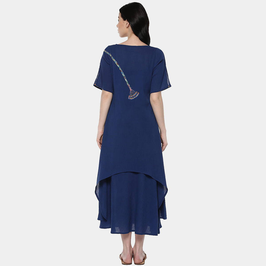 Kalbelia Indigo Cotton Layer Dress (2)