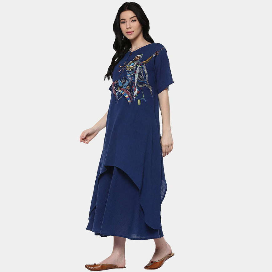 Kalbelia Indigo Cotton Layer Dress (3)