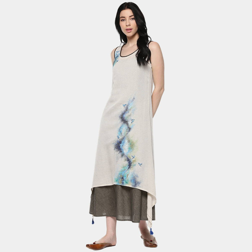 Abstract Mix Layer Dress (1)