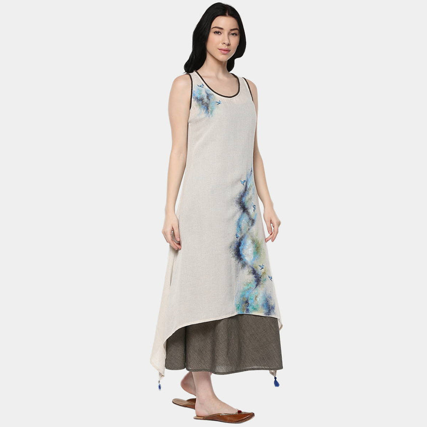 Abstract Mix Layer Dress (4)