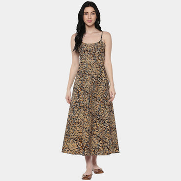 Kalamkari Mix Layer Dress