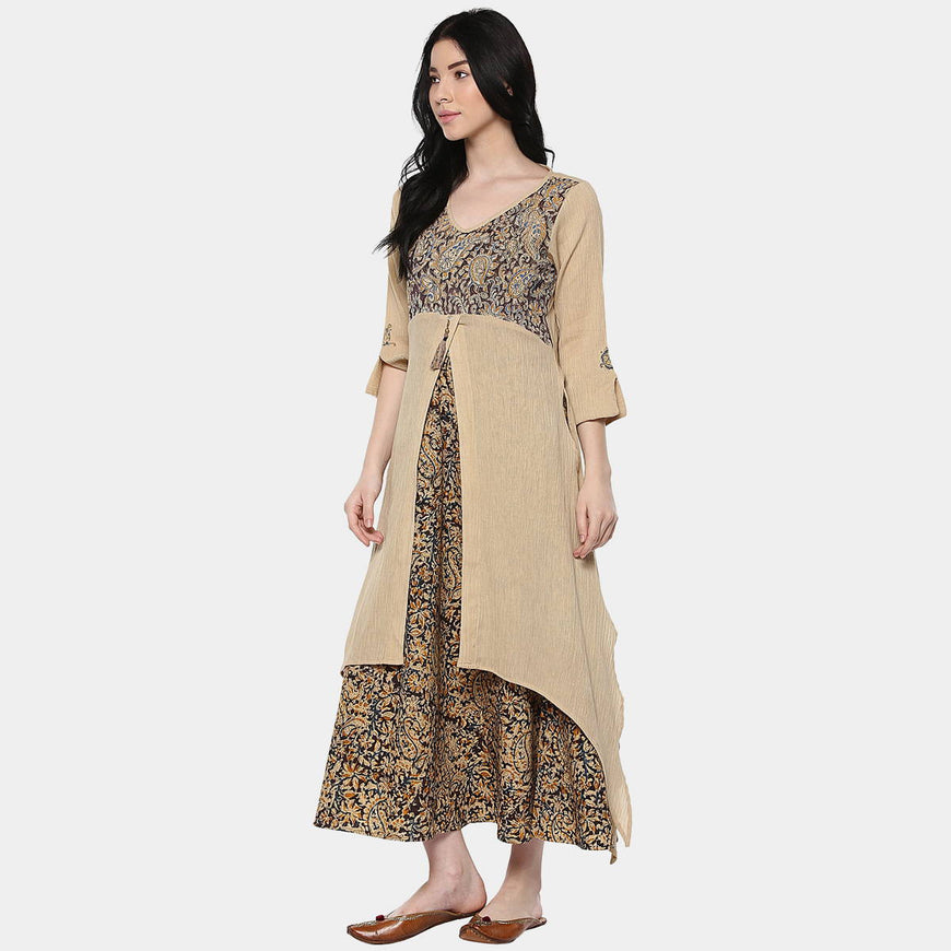 Kalamkari Mix Layer Dress (4)