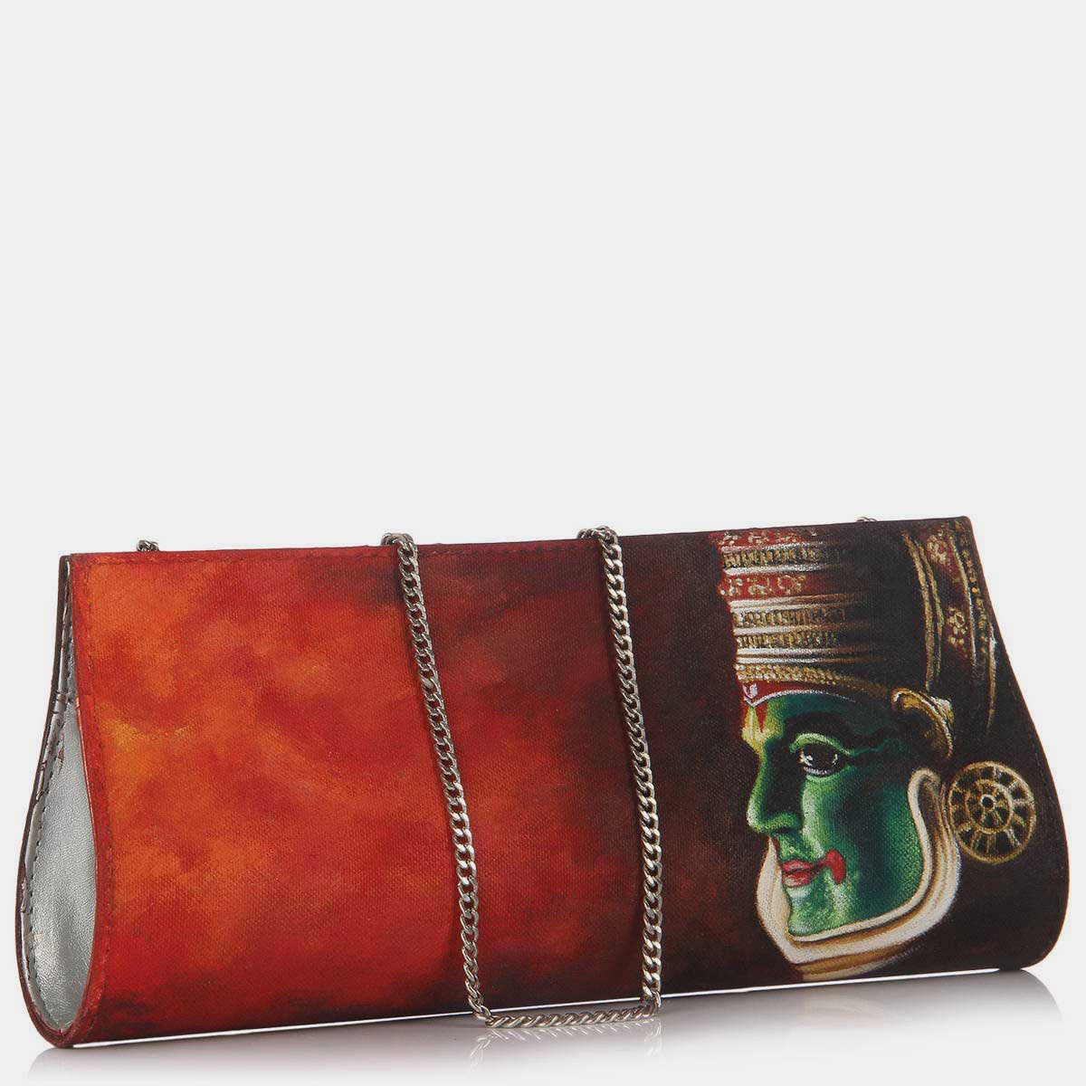 Hand Painted Kathakali Clutch