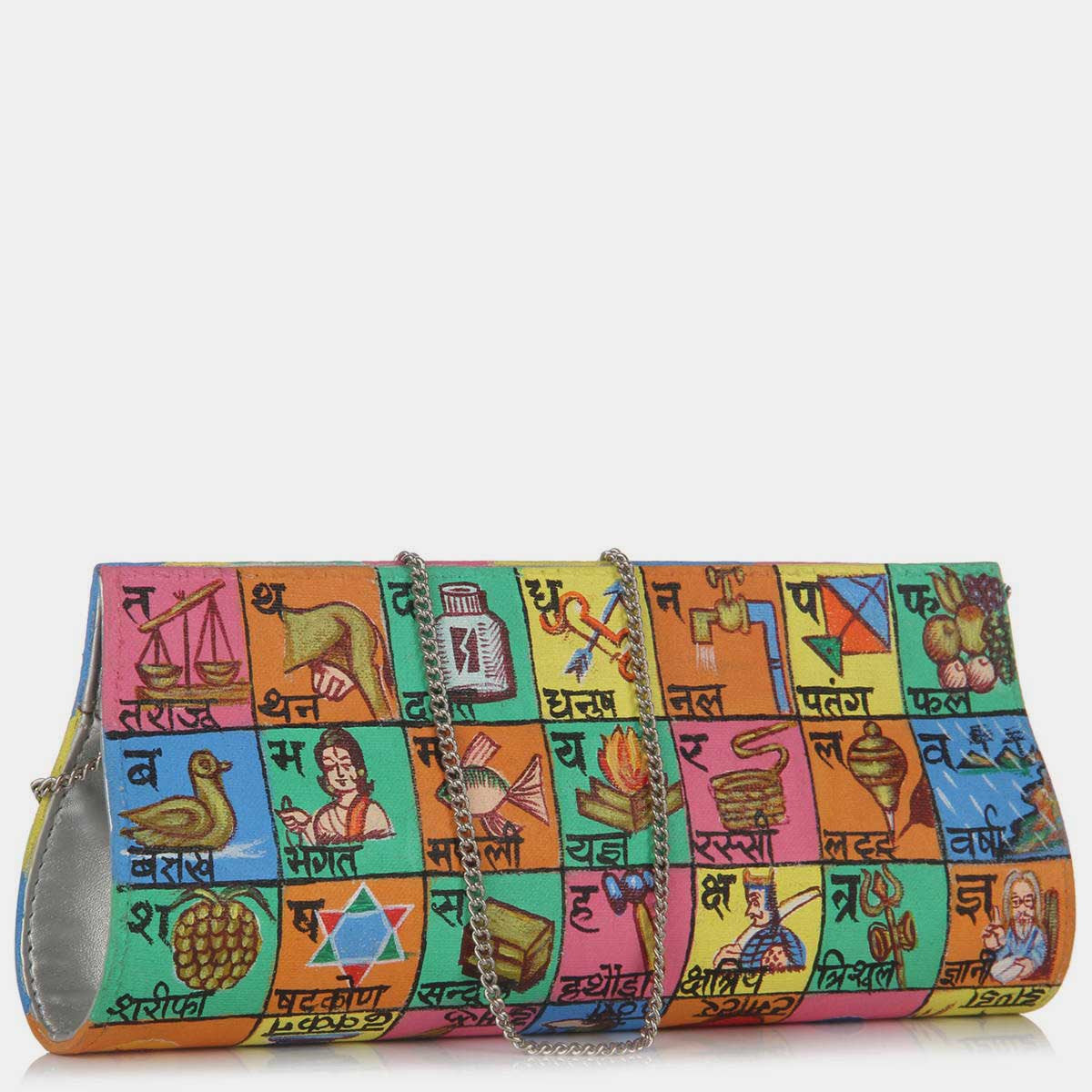 Hand Painted Hindi Bol Clutch