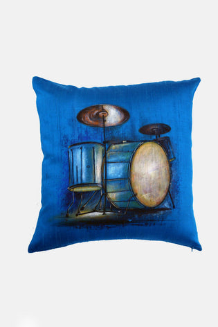 Hand Painted Drums Cushion Cover