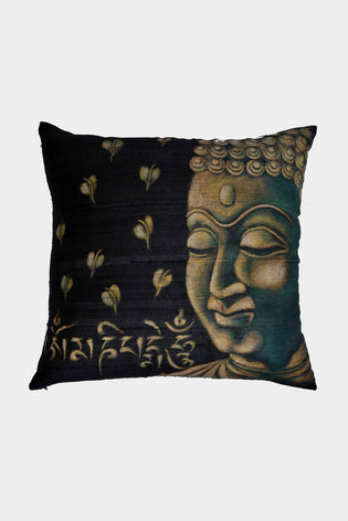 Hand Painted Buddha Cushion Cover