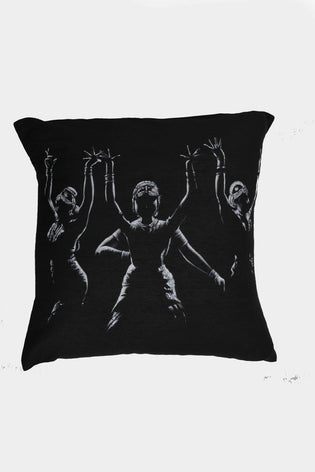 Hand Painted Dancers Cushion Cover