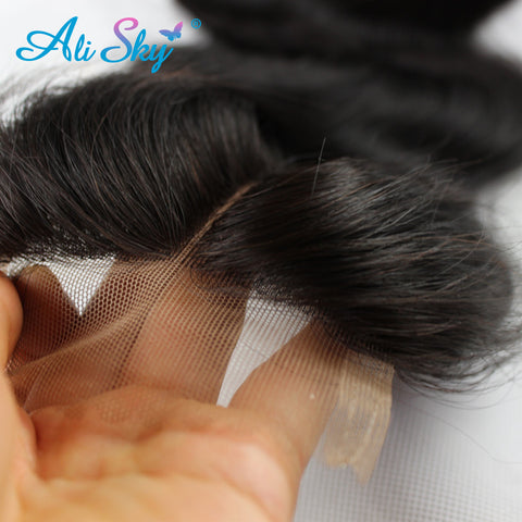 8A malaysian virgin hair with lace closure 4 bundles deal body wave