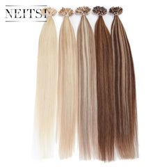 "Fusion Human Hair Extensions Straight Weave 20"" 1g/s 100g/pack ombre color"