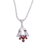 Garnet Gemstone Pendant Necklace