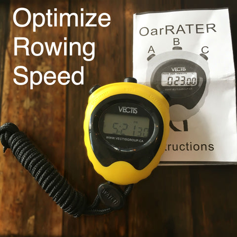 OARrater strokewatch stopwatch timer for rowing, measure stroke rate at a fraction of the cost of the NK Interval watch