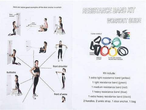 Complete 12-Piece Premium Resistance Band Kit For Fitness-On-The-Go