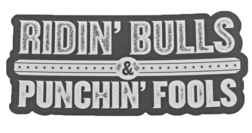 Dale Brisby 'RIDIN BULLS & PUNCHIN FOOLS' Decal