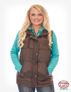 Cowgirl Tuff Vest Brown Shimmer