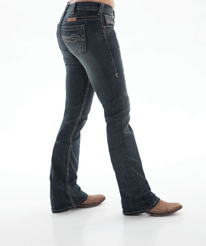 Cowgirl Tuff 'DON'T FENCE ME IN' Jeans - Dark