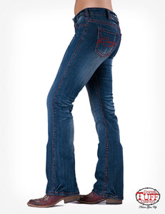 Cowgirl Tuff 'Edgy Red' Jeans
