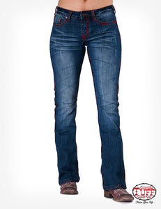 Cowgirl Tuff Jean Edgy Red