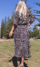 Animal Print Dress - Black/Tan Leopard